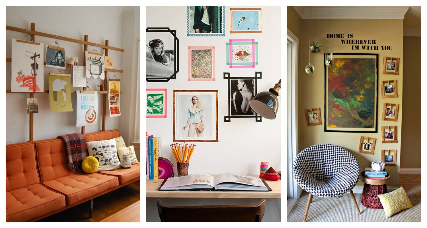 Alternative Framing Ideas – How To Hang Pictures Without A Frame Throughout Most Up To Date Wall Art Frames (View 16 of 20)