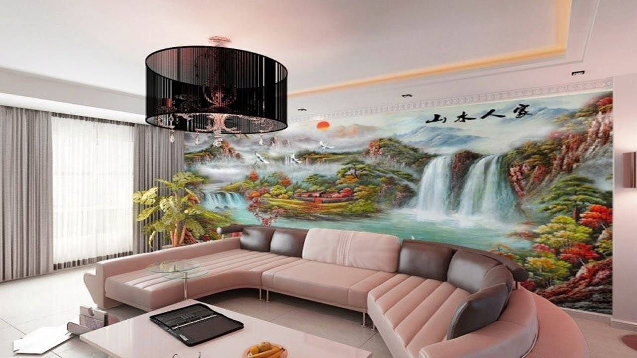 Amazing 3d Custom Mural Wall Bedroom Ideas | 3d Wall Art Design Pertaining To Most Popular 3d Wall Art Wallpaper (View 10 of 20)