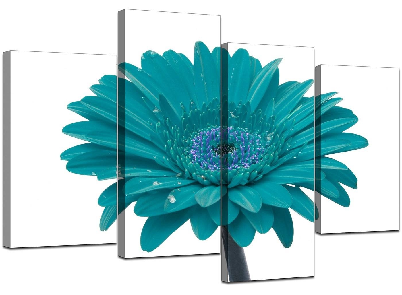 Amazing 40+ Teal Canvas Wall Art Decorating Design Of Best 10+ Within Most Up To Date Teal Flower Canvas Wall Art (View 5 of 20)
