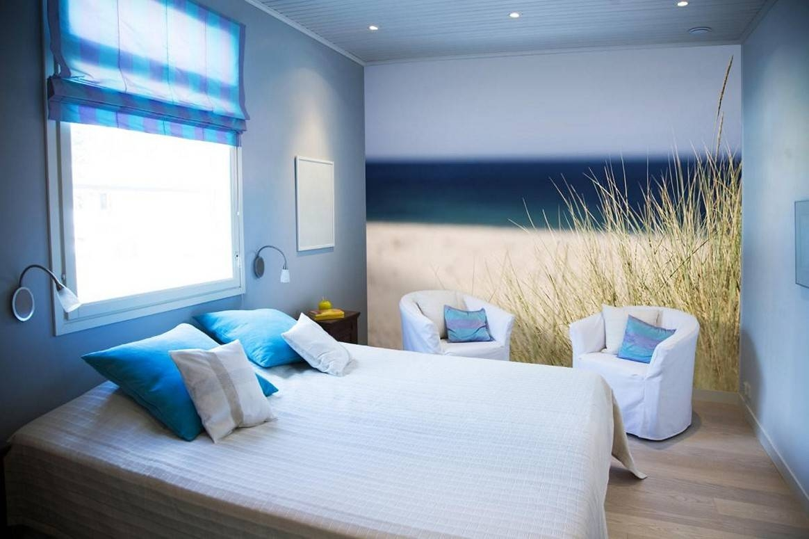 Amazing Beach Themed Bedroom Designs With Nice Wall Art – Howiezine In Current Beach Theme Wall Art (View 17 of 20)