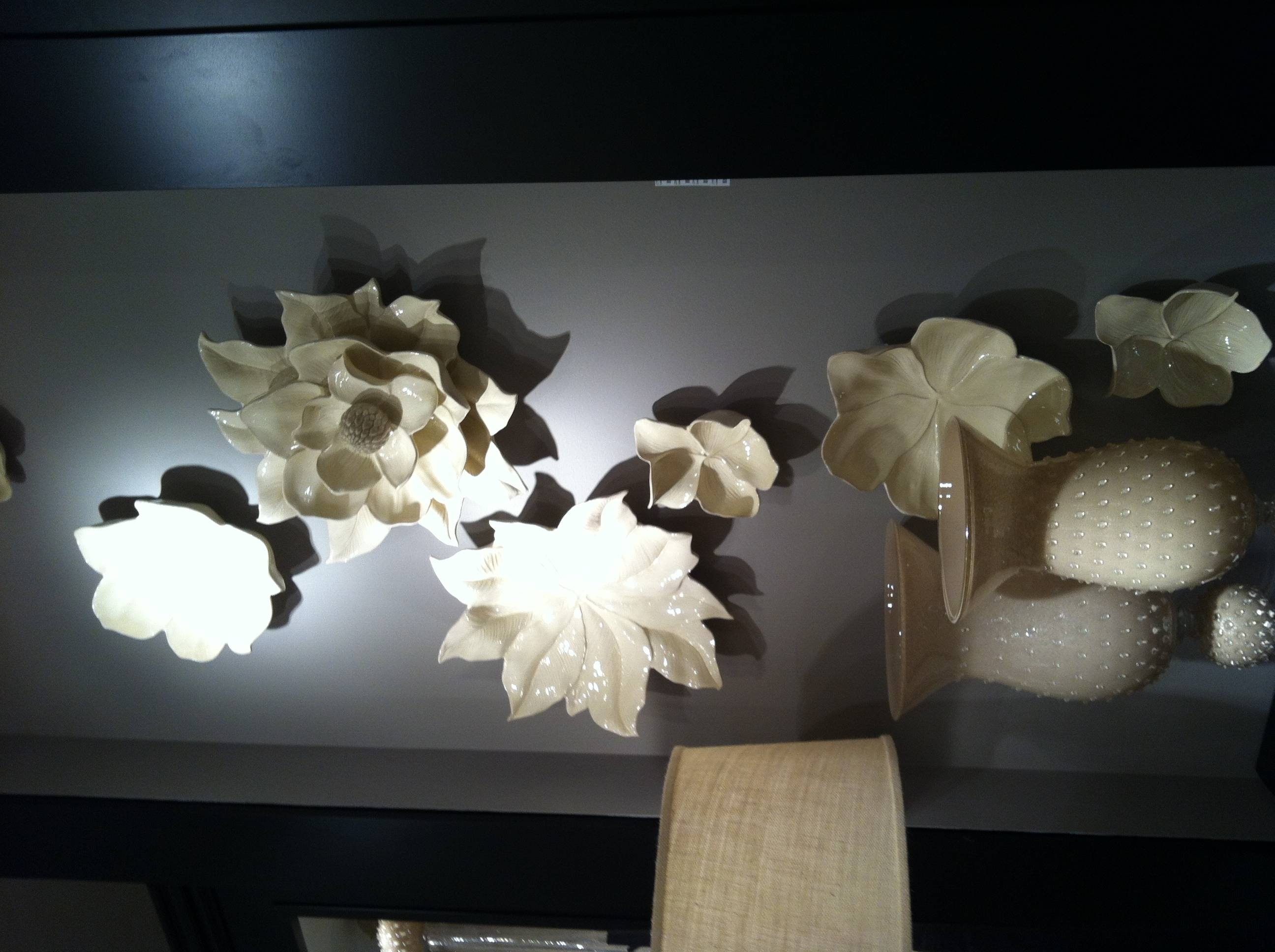 Amazing Ceramic Flower Wall Decor For Sale Valetta Vaso Con Olives Intended For Most Recent Ceramic Flower Wall Art (View 7 of 30)