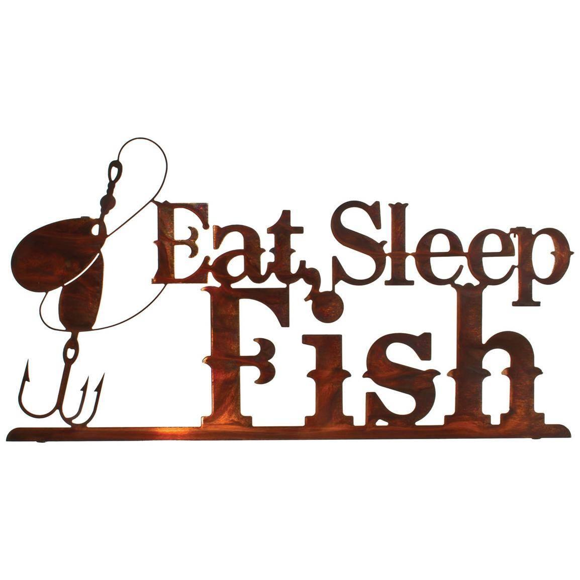 Amazing Design Fishing Wall Art Merry Lazart Eat Sleep Fish Wall For Most Popular Lazart Metal Art (View 11 of 30)