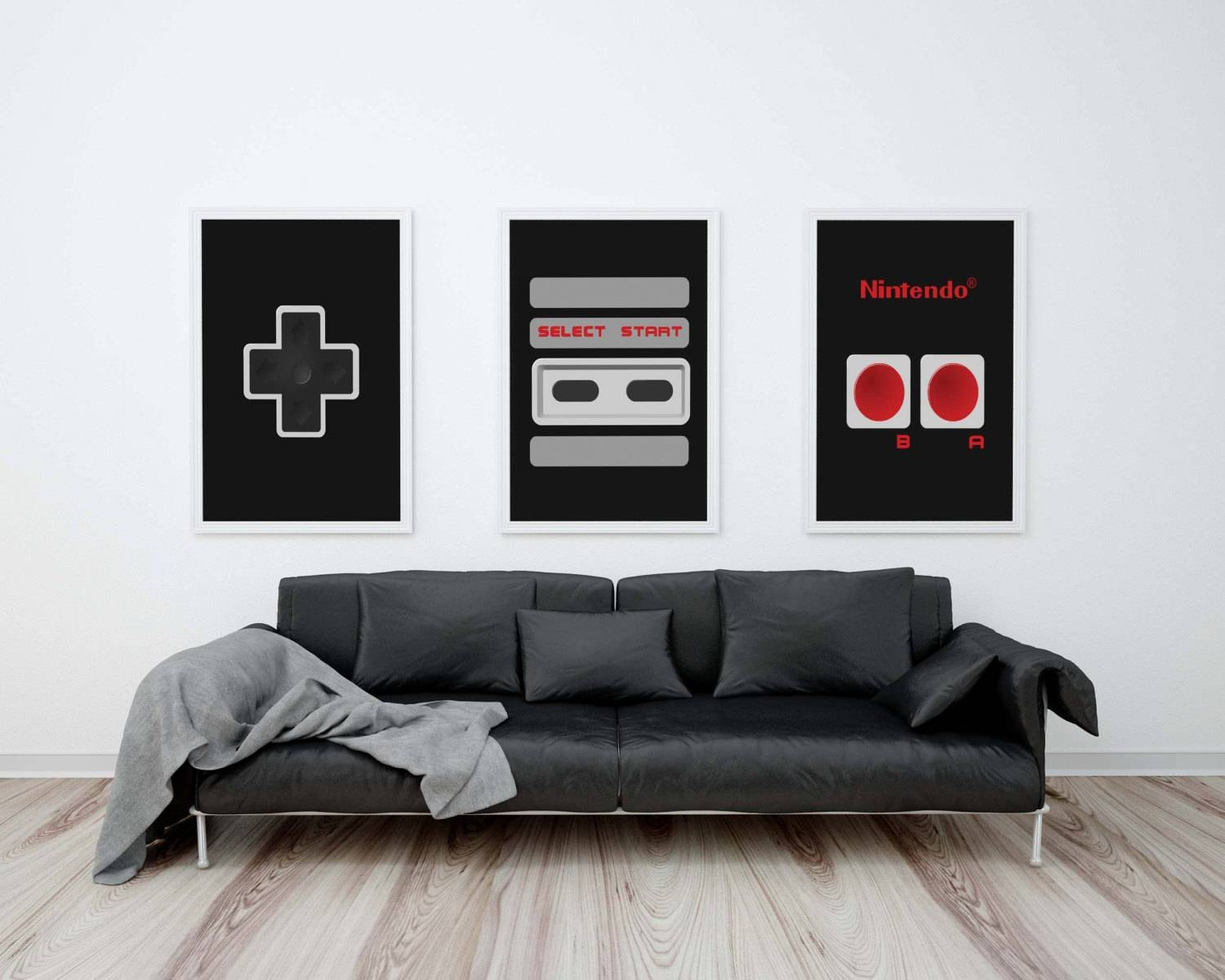 Amazing Design Nintendo Wall Art Crafty Ideas Video Game Poster In Most Recently Released Video Game Wall Art (View 4 of 30)