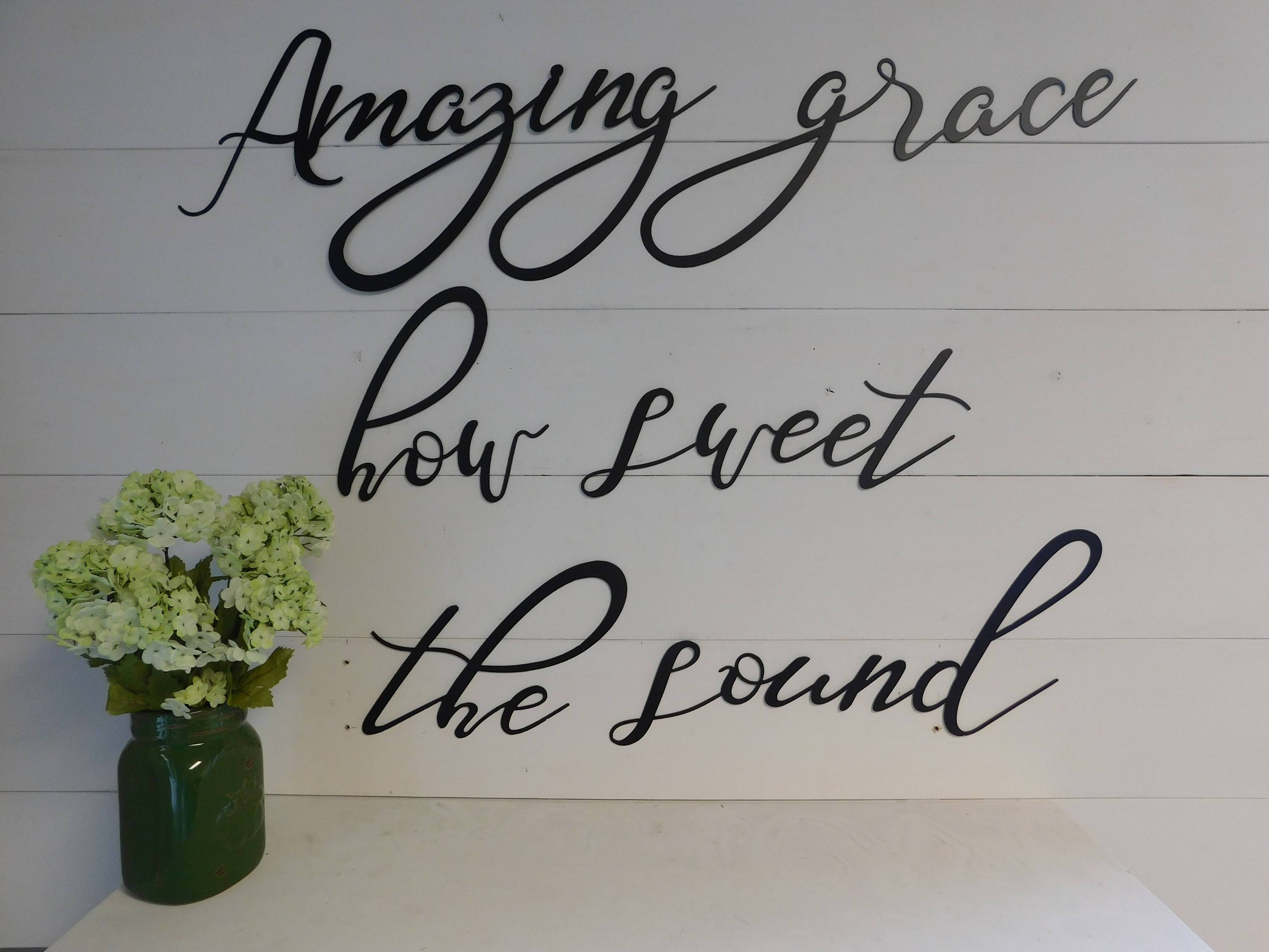 Amazing Grace How Sweet The Soundamazing Grace Wall Art With Recent Grace Wall Art (Gallery 20 of 25)