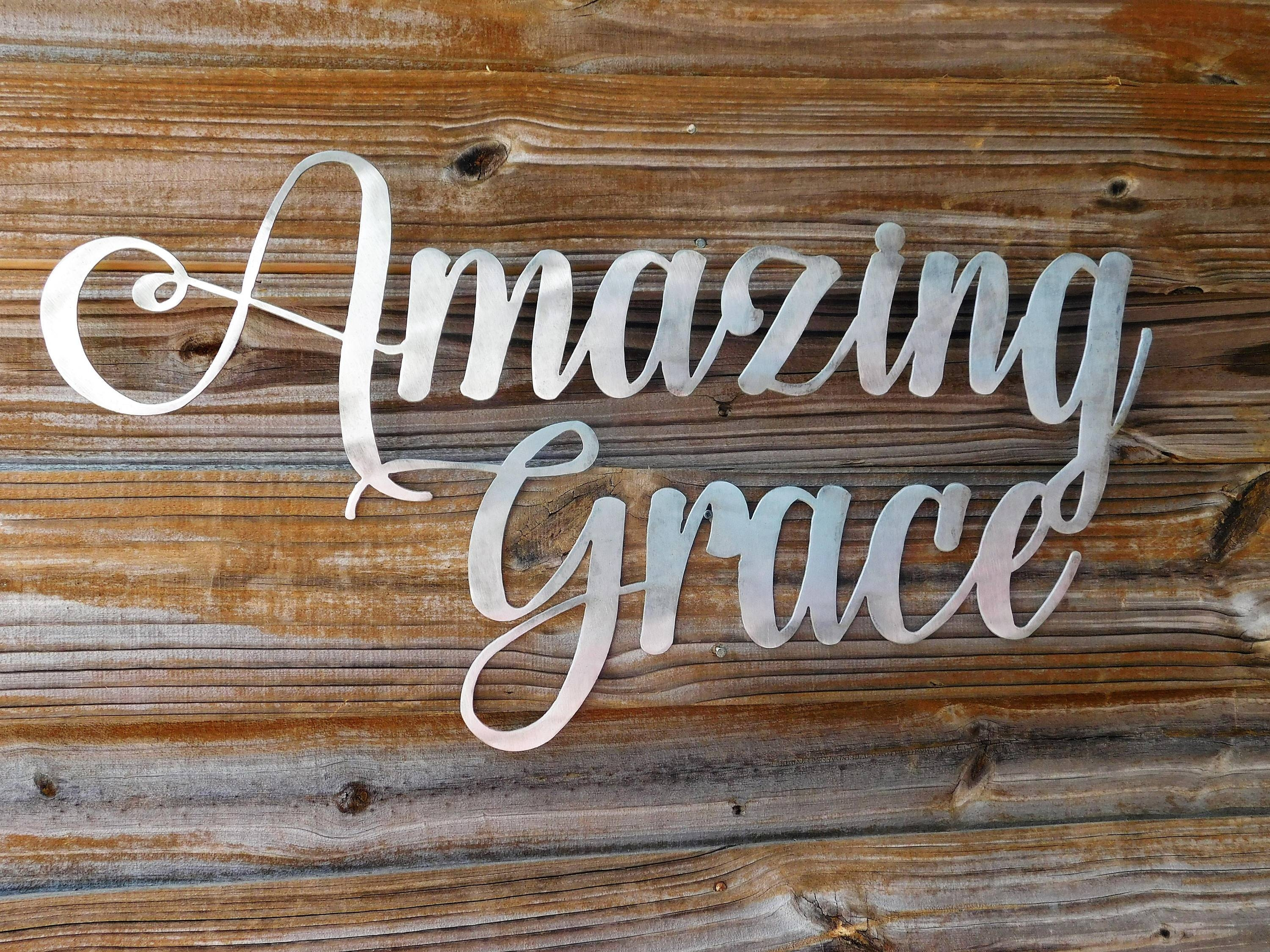 Amazing Grace Sign, Amazing Grace Wall Art, Bible Verse Wall Art With Regard To Newest Grace Wall Art (View 5 of 25)
