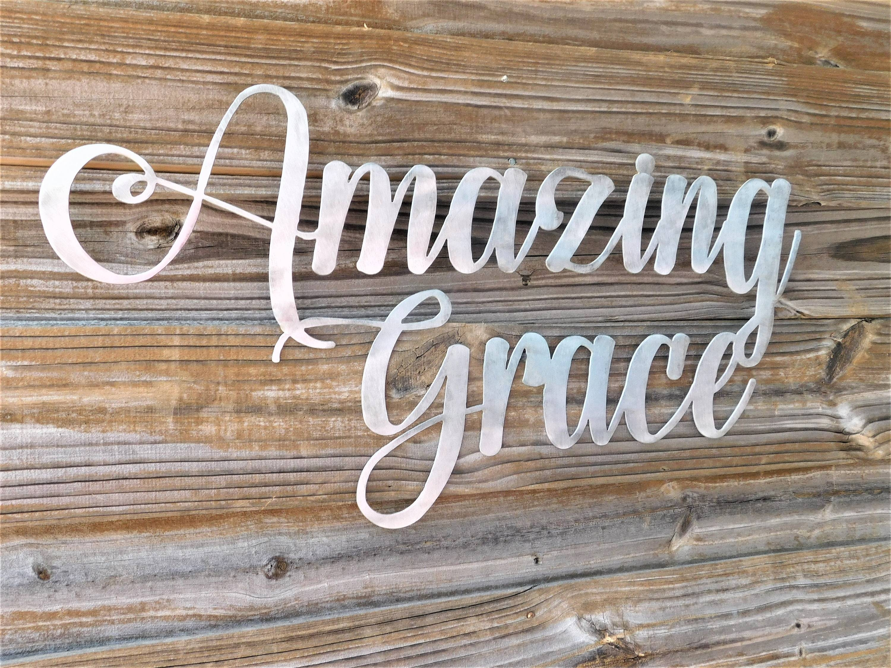 Amazing Grace Sign, Amazing Grace Wall Art, Bible Verse Wall Art Within Newest Grace Wall Art (View 6 of 25)