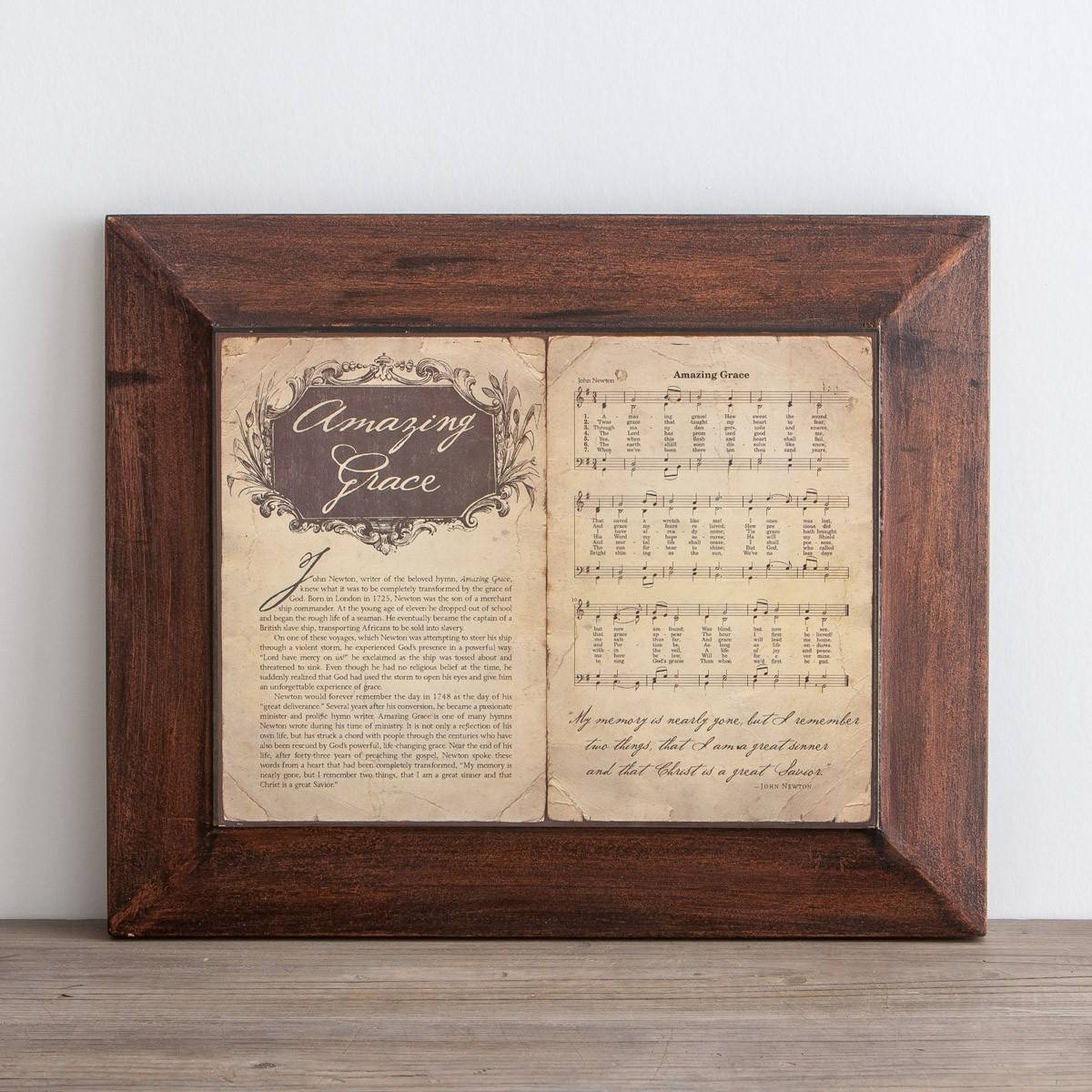 Amazing Grace, Story & Hymn – Wall Art | Dayspring For Most Popular Grace Wall Art (View 7 of 25)