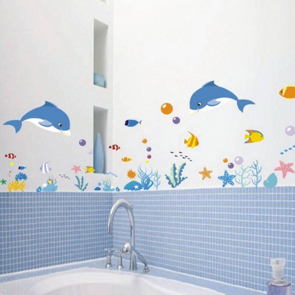 Amazing Ideas And Pictures Of The Best Vinyl Tile For Bathroom Pertaining To Recent Fish Decals For Bathroom (View 7 of 30)