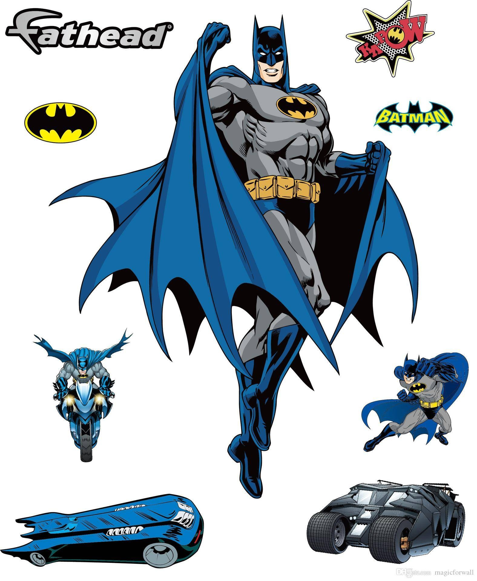 Amazing Large Batman Wall Stickers Decal For Kids Bedroom Nursery With Regard To Most Current Batman 3d Wall Art (View 10 of 20)