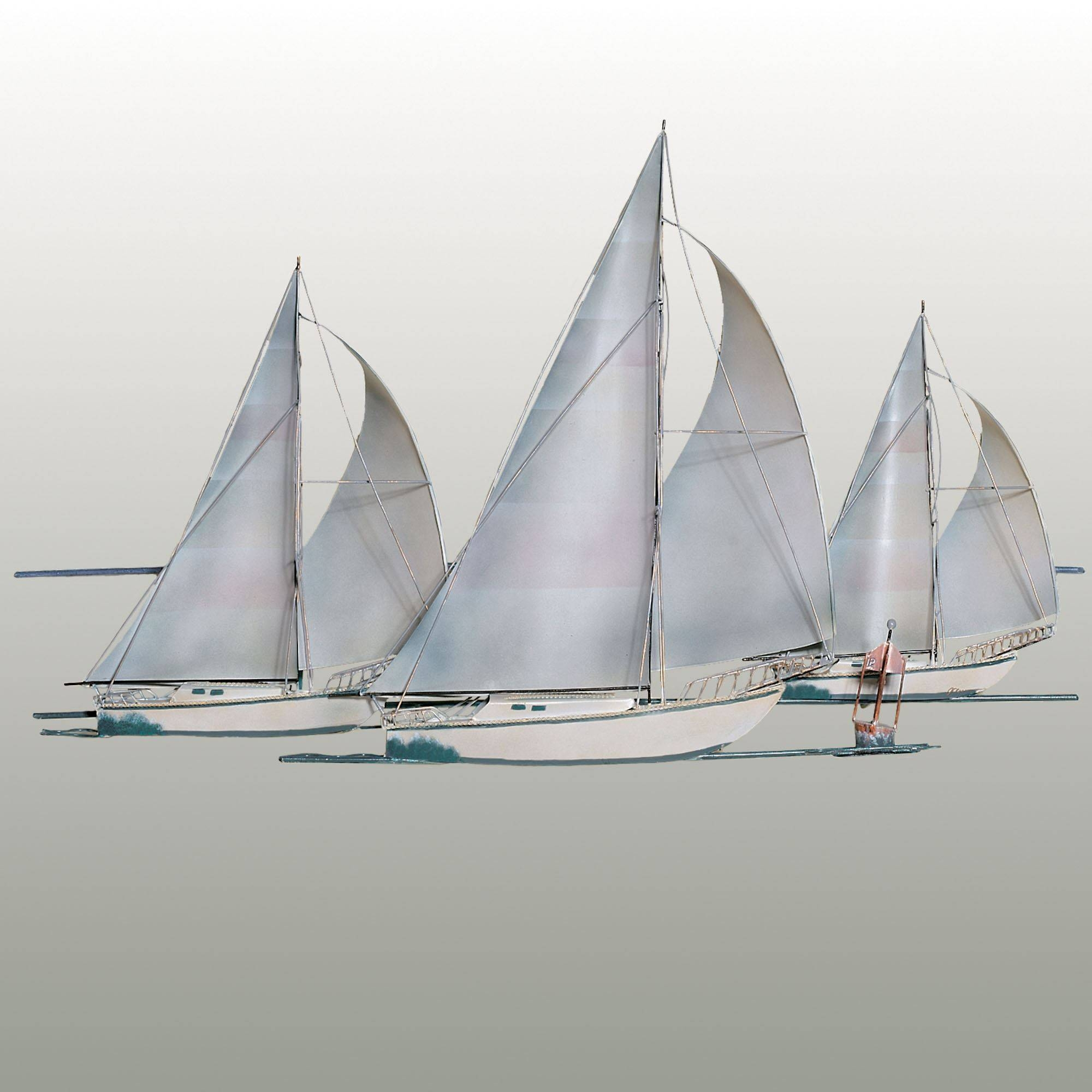 Amazing Metal Nautical Star Wall Art Sail Floating Sailboat Metal Pertaining To Most Current Metal Sailboat Wall Art (View 14 of 30)