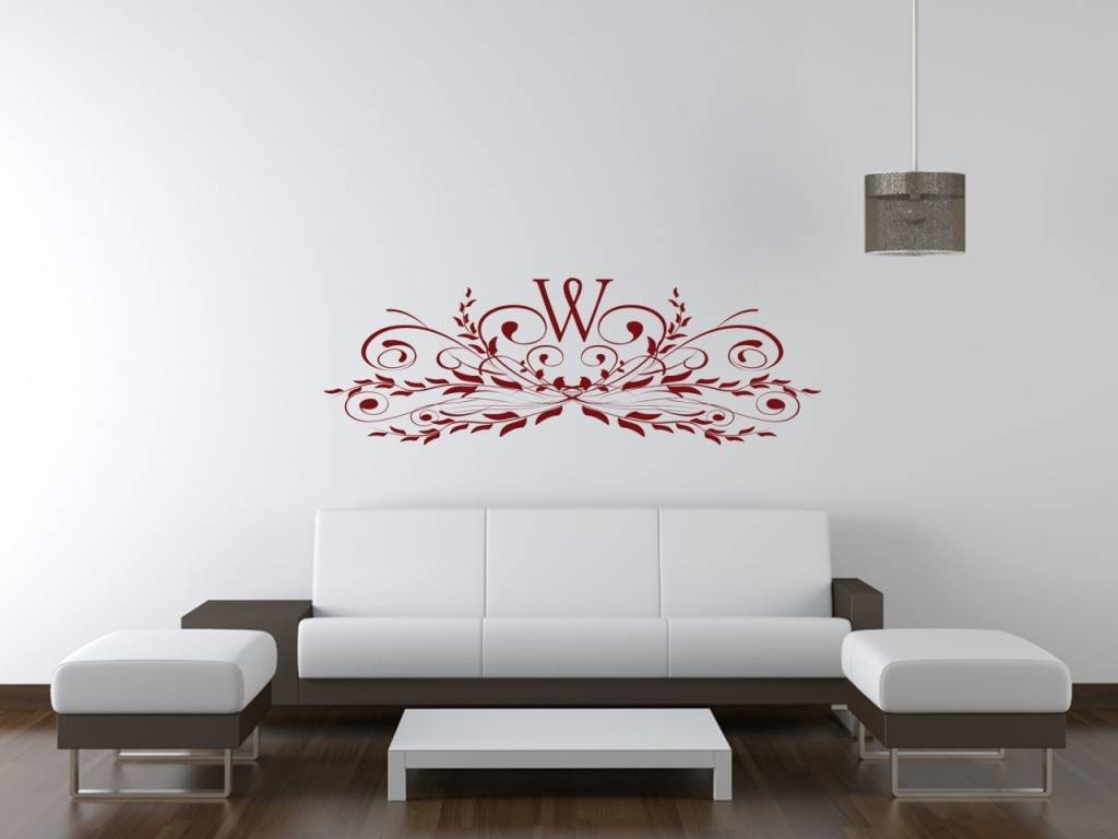 Amazing Monogram Wall Art Decals Personalized Name Monogram Wall Intended For 2017 Groupon Wall Art (View 1 of 20)