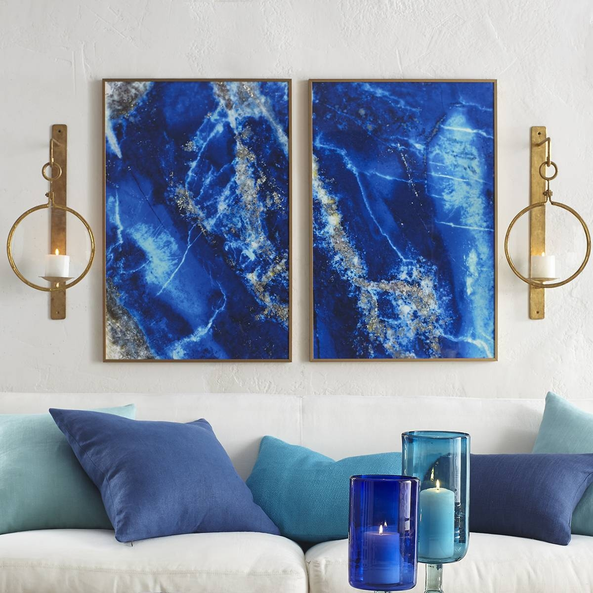 Amazing Navy Blue Wall Art Canvas Blue Painting Blue Abstract Dark With Newest Dark Blue Wall Art (View 3 of 20)