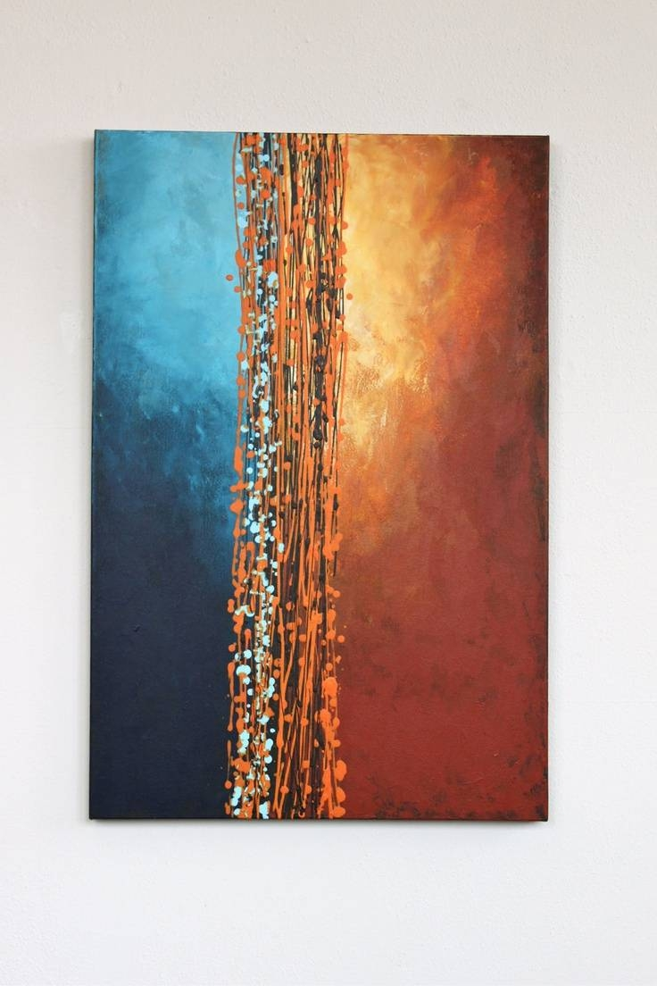 Amazing Orange Wall Art Canvas Wall Ideas Orange Wall Art For Intended For Most Current Orange And Turquoise Wall Art (View 5 of 20)