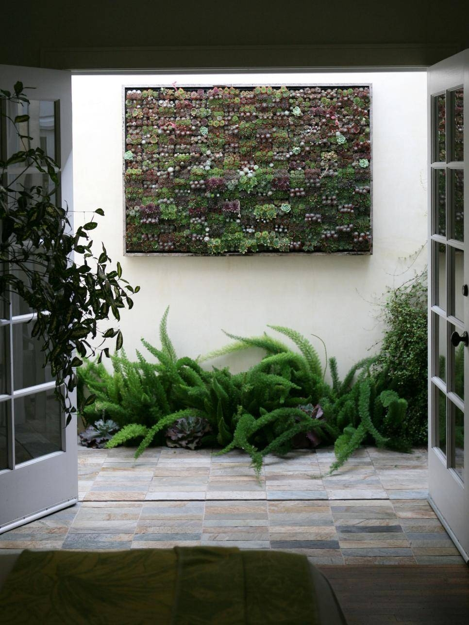 Amazing Outdoor Walls And Fences | Hgtv Pertaining To Current Diy Garden Wall Art (View 2 of 25)