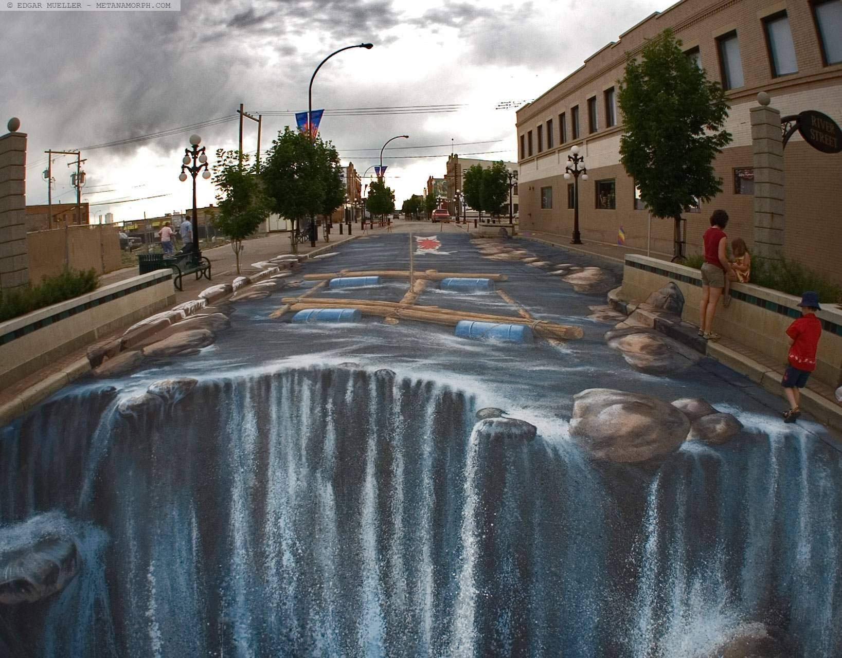 Amazing Sidewalk Art Illusions Swimming Pool Drawings – ????????? Intended For Latest 3D Wall Art Illusions (View 10 of 20)