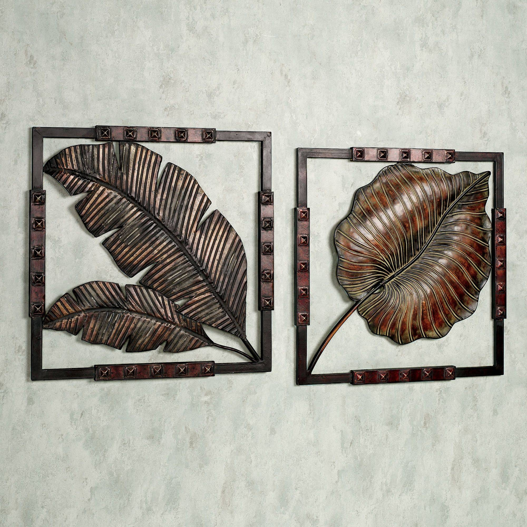 Amazing Sunlit Palms Tropical Metal Wall Art Sculpture Tropical Pertaining To Latest Palm Leaf Wall Art (View 2 of 20)