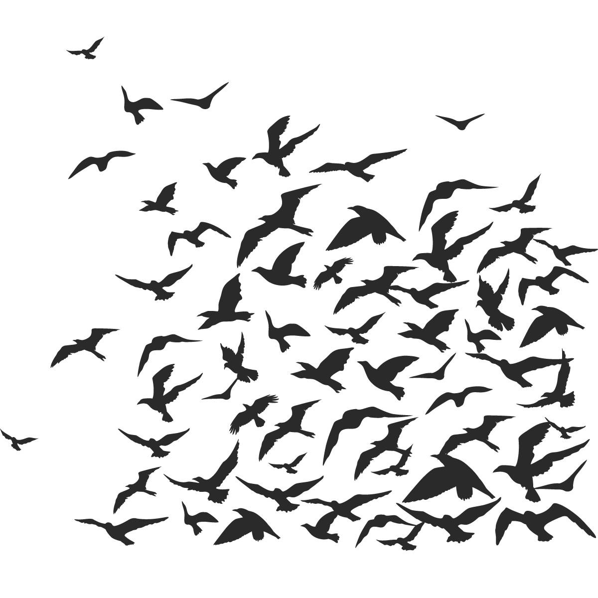 Amazing Wall Art Birds Flying Natures Kiss Birds Wall Wall Art Intended For 2018 Flock Of Birds Wall Art (View 2 of 25)