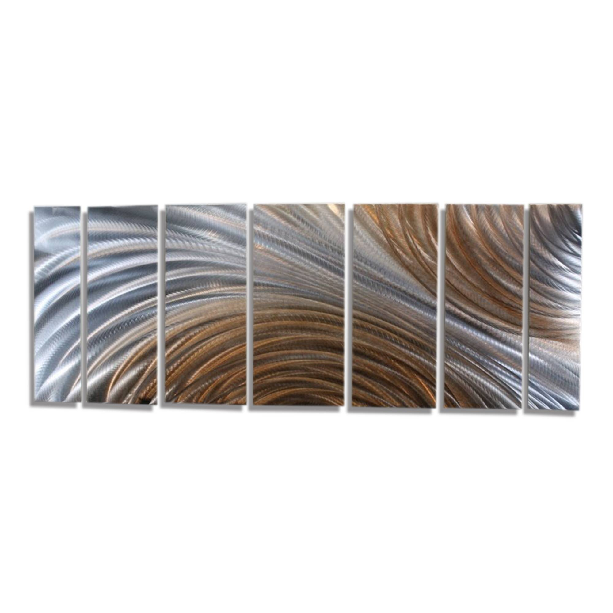 Amber Ascension Xl – Extra Large Silver & Copper Abstract Metal With Most Up To Date Large Abstract Metal Wall Art (View 3 of 20)