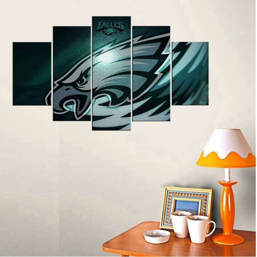 American Football Logo 3D Wall Art Casual Living Room Decor Poster Throughout Latest Football 3D Wall Art (View 9 of 20)