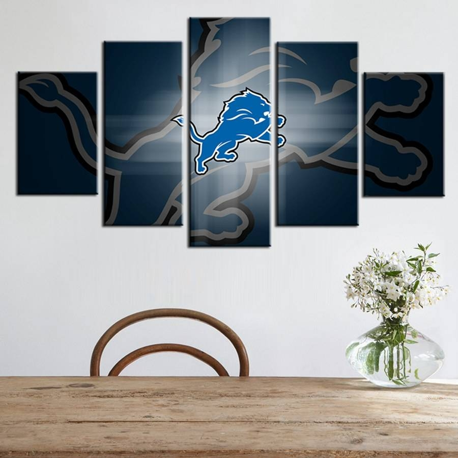 American Football Team Logo Oil Painting Abstract Wall Art Boys Pertaining To Newest Abstract Wall Art 3D (View 3 of 20)