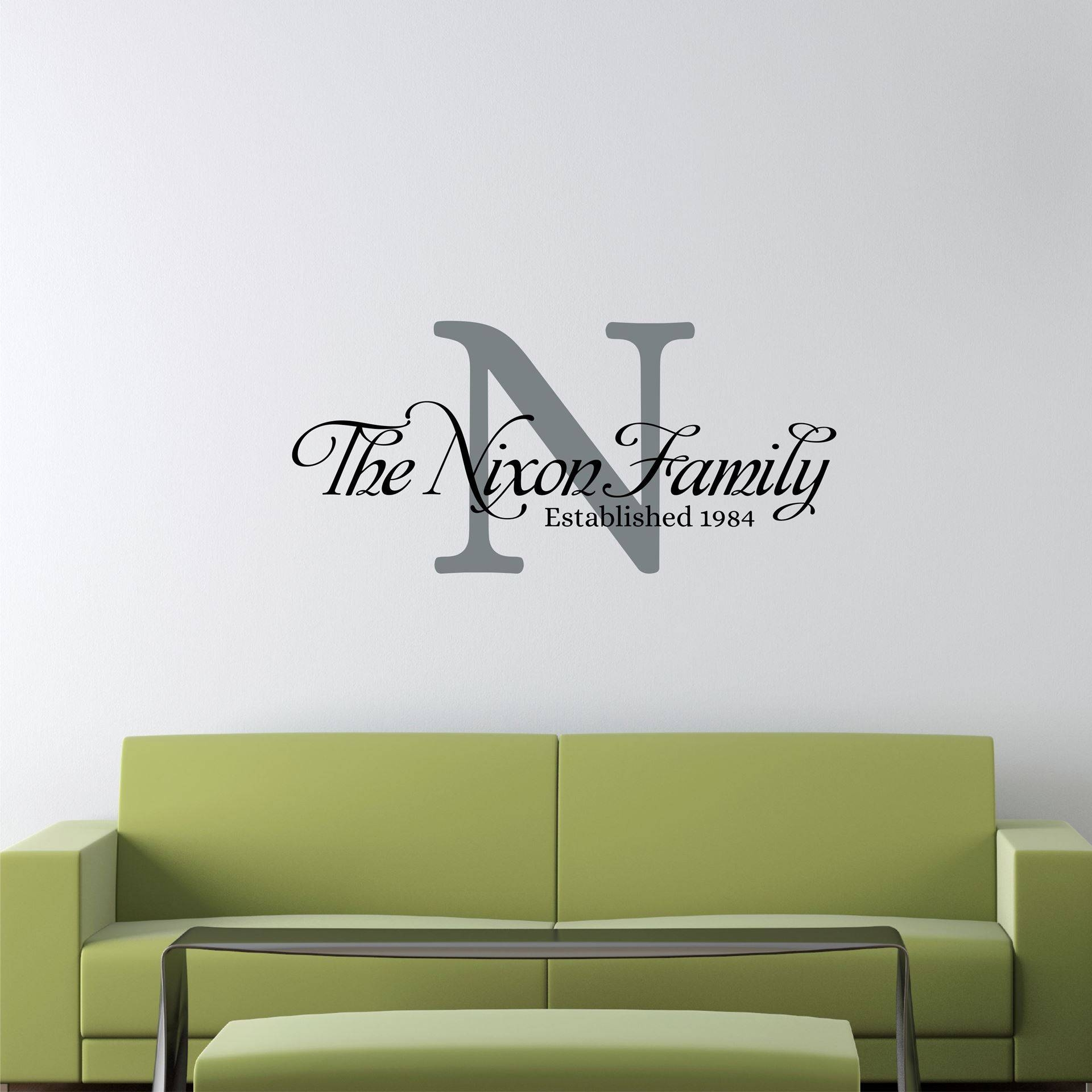 Amusing 25+ Personalized Last Name Wall Art Design Decoration Of Within Most Recently Released Personalized Last Name Wall Art (View 11 of 20)