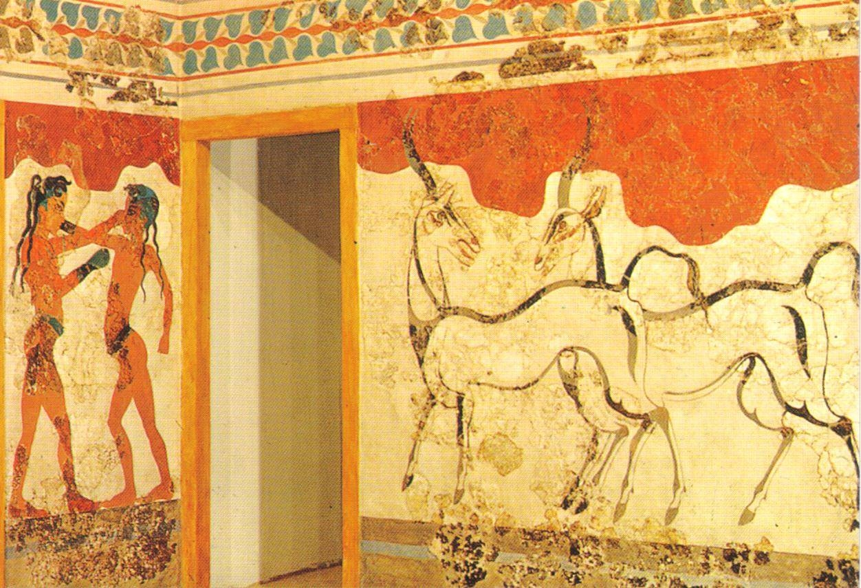 Ancient Greek Wall Painting Postcard – A Photo On Flickriver Pertaining To Most Popular Ancient Greek Wall Art (View 19 of 25)
