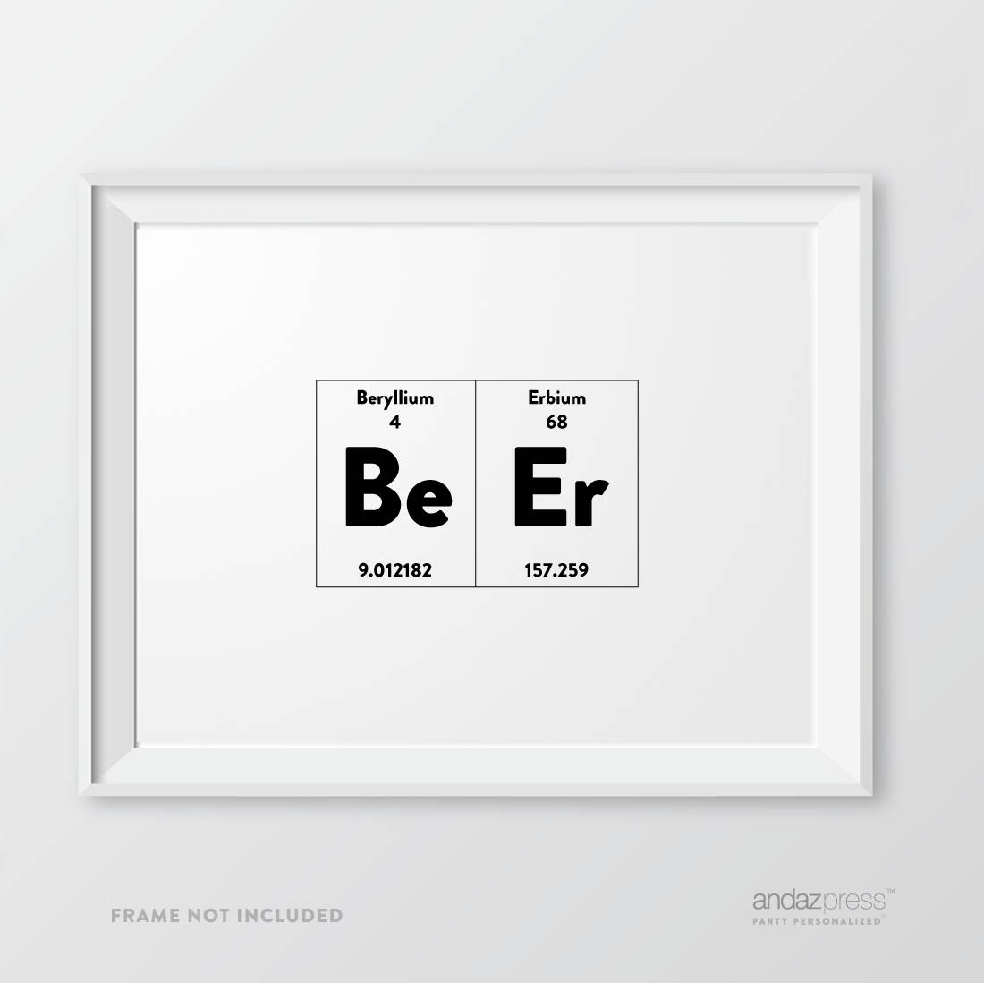 Andaz Press Periodic Table Of Elements Wall Art Decor, (View 10 of 20)