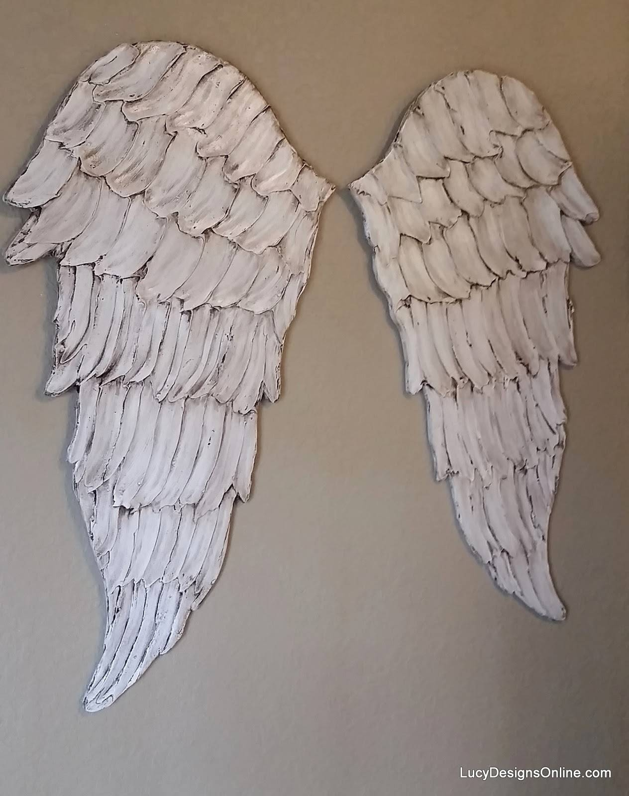 Angel Wings Textured Wood, Wall Art, Carved Wood Look, Angel Wing Pertaining To Most Current Angel Wings Wall Art (View 3 of 20)