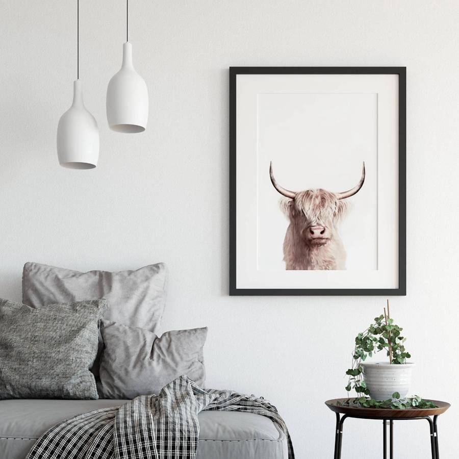 Animal Buffalo Poster Canvas Painting Wall Art Decor , Bison Art Within Most Popular Animal Wall Art (View 22 of 25)