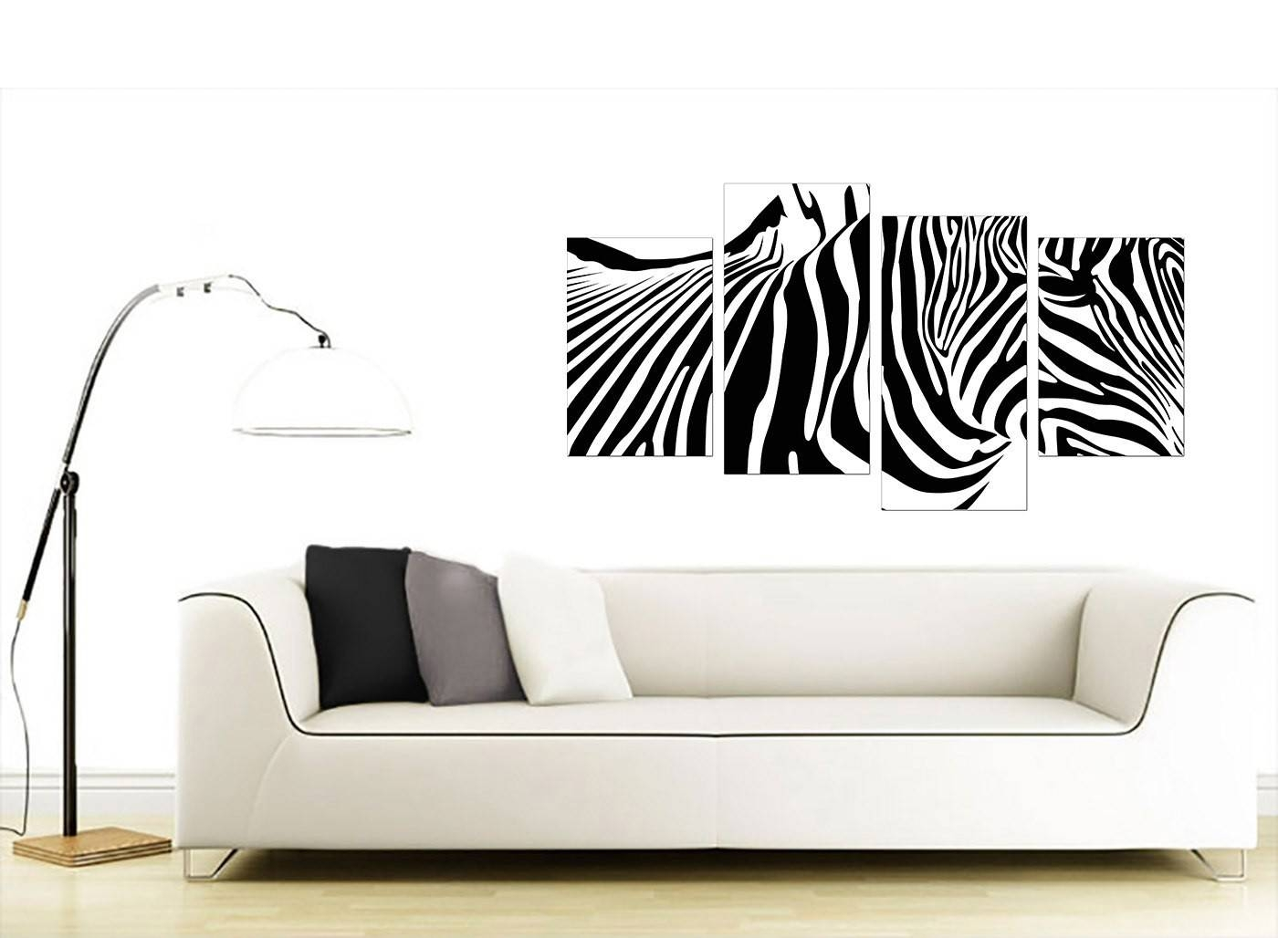 Animal Canvas Wall Art Of Zebra – For Living Room With Regard To Current Animal Canvas Wall Art (View 8 of 20)