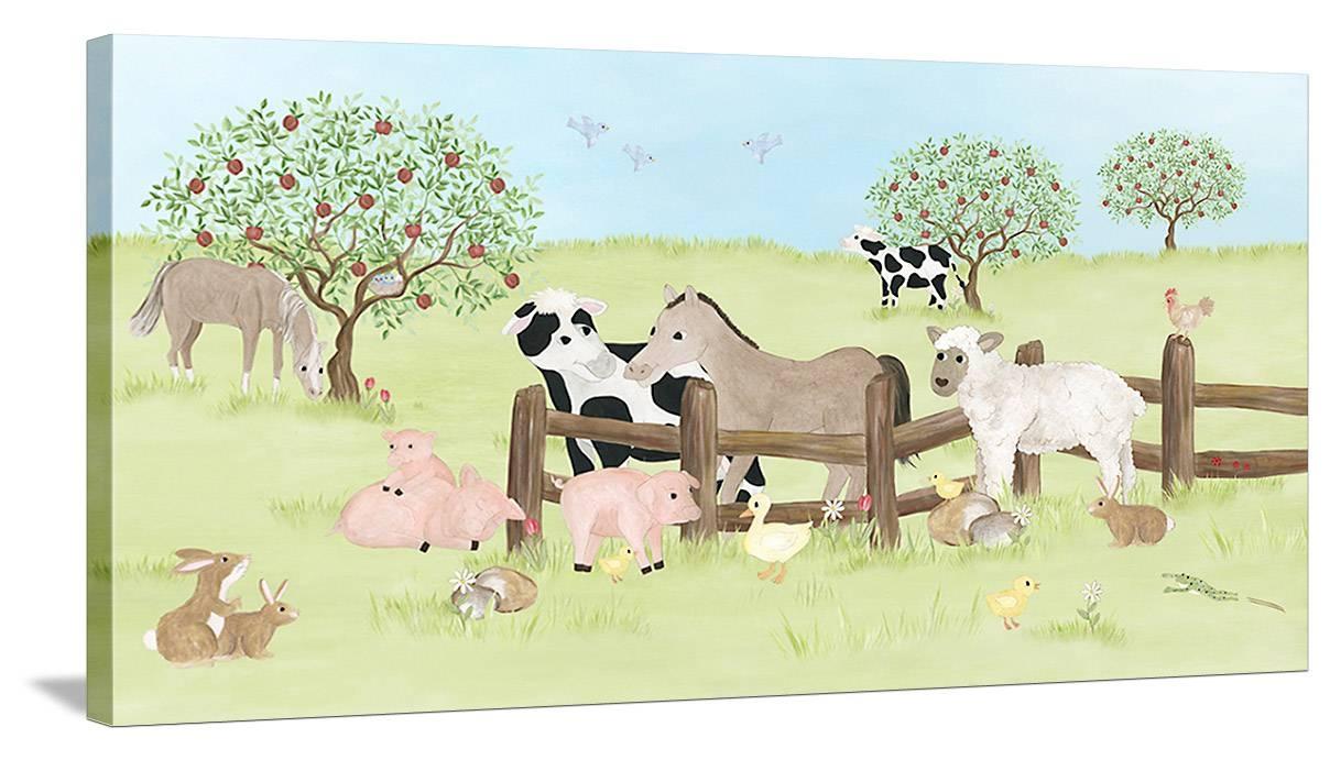 Animal Friends – Canvas Wall Art Regarding Most Popular Animal Canvas Wall Art (View 9 of 20)