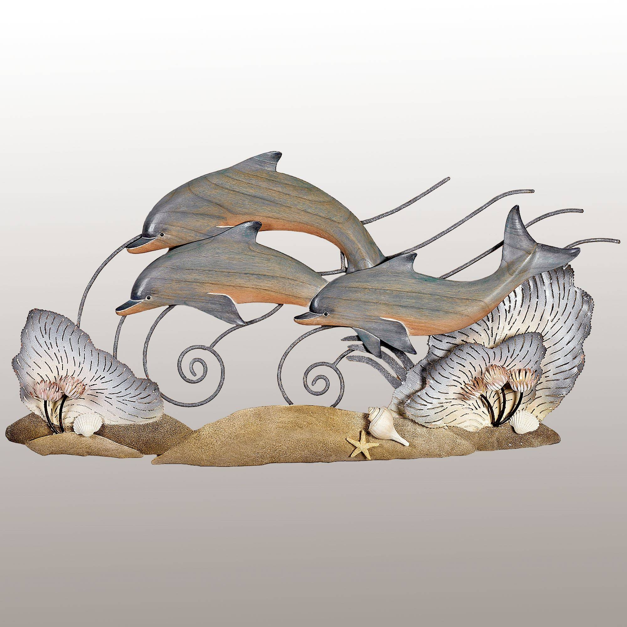 Animal Metal Wall Sculptures | Touch Of Class Regarding Latest Dolphin Metal Wall Art (View 14 of 25)