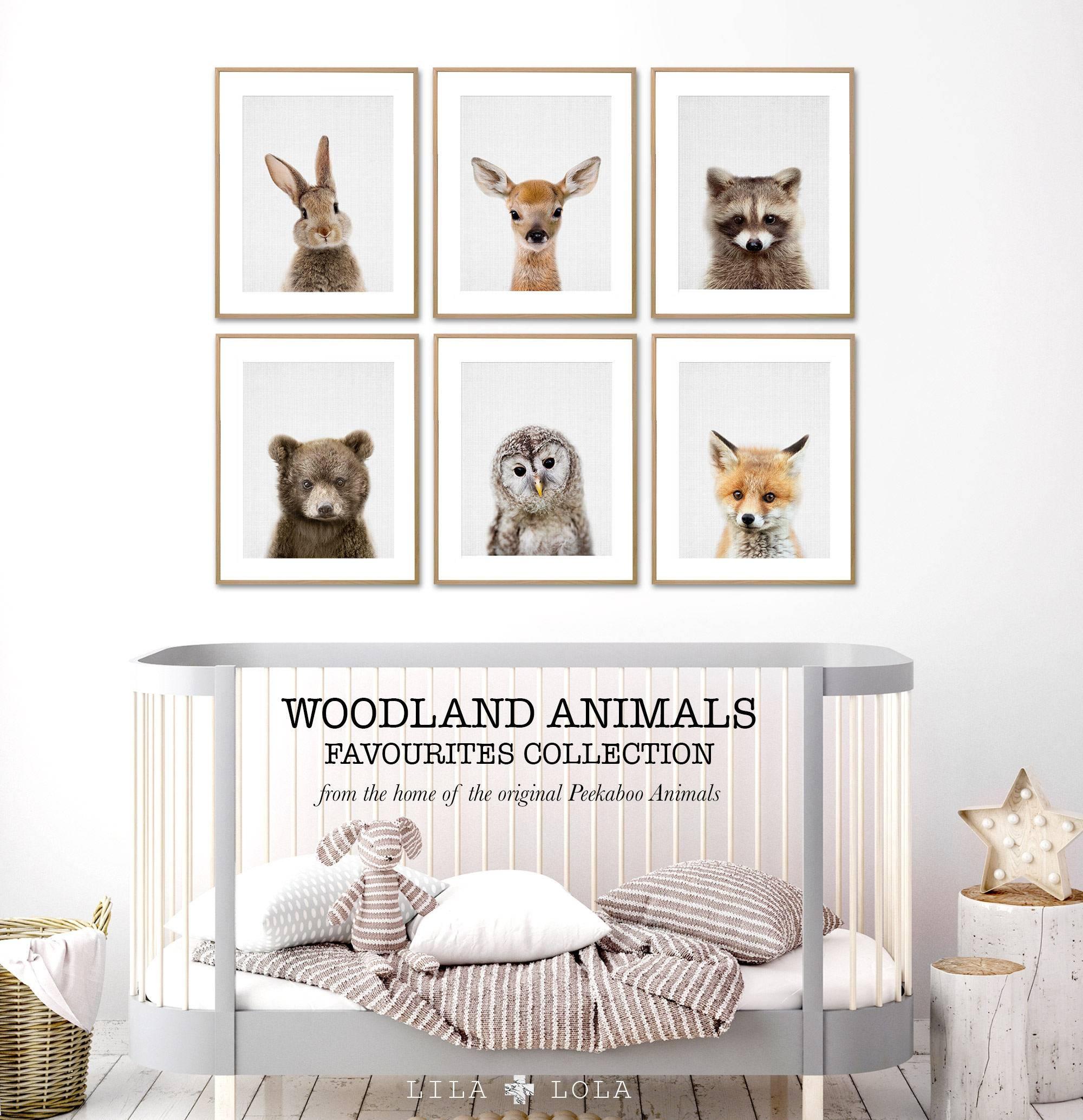 Animal Nursery Prints Woodland Baby Wall Art Woodland For 2018 Baby Wall Art (View 4 of 30)