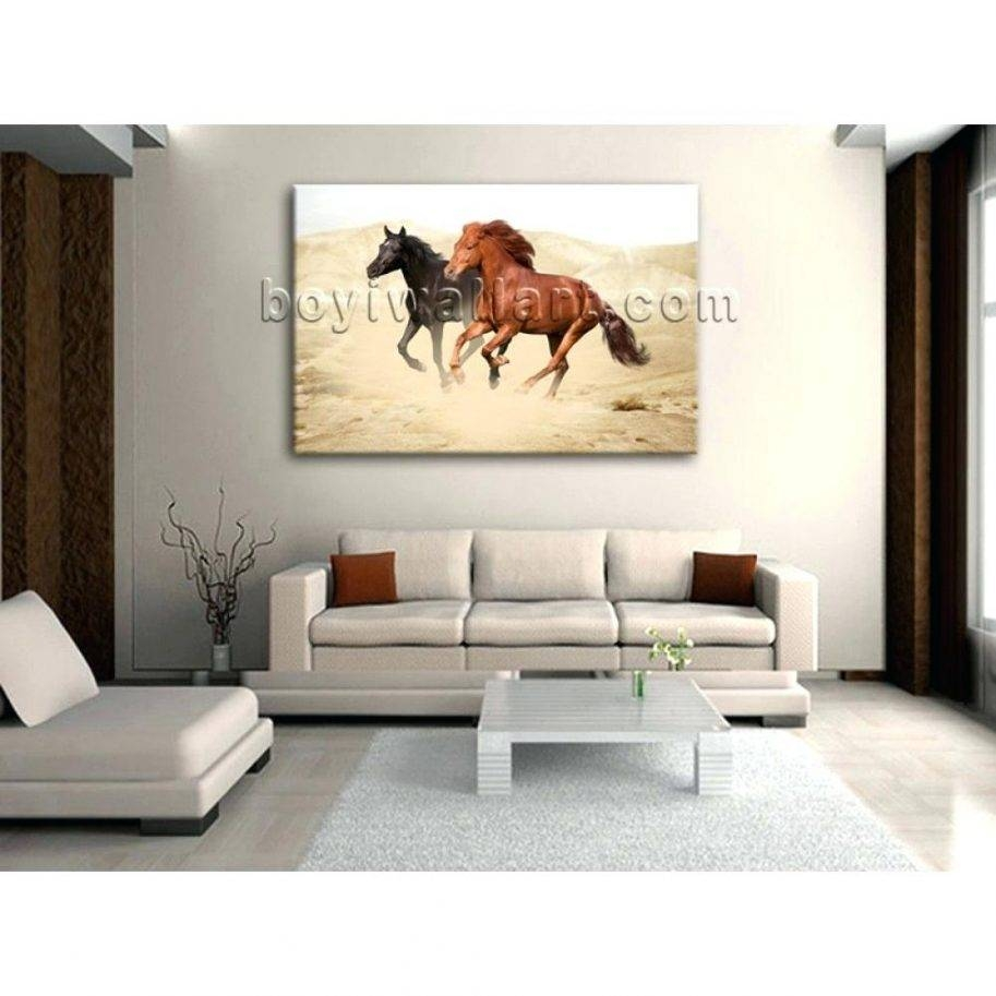 Animal Print 3D Wall Art Horses Metal Vinyl Large Metal Wall Art Intended For Best And Newest 3D Horse Wall Art (View 8 of 20)