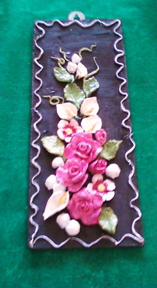 Anitakumarcrafts: Ceramic Flower Wall Hanging With Regard To Most Recent Ceramic Flower Wall Art (View 4 of 30)