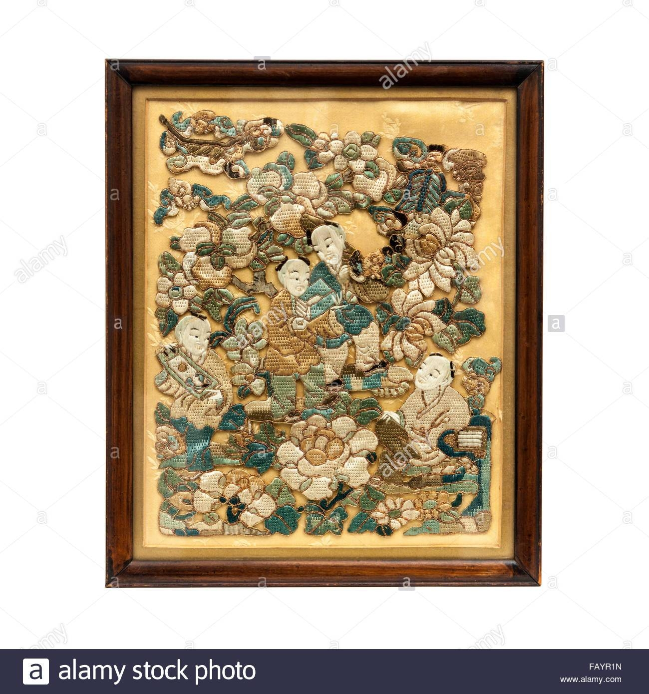 Antique 19Th Century Chinese Or Japanese Embroidered Wall Panel In Intended For 2018 Japanese Wall Art Panels (View 5 of 25)