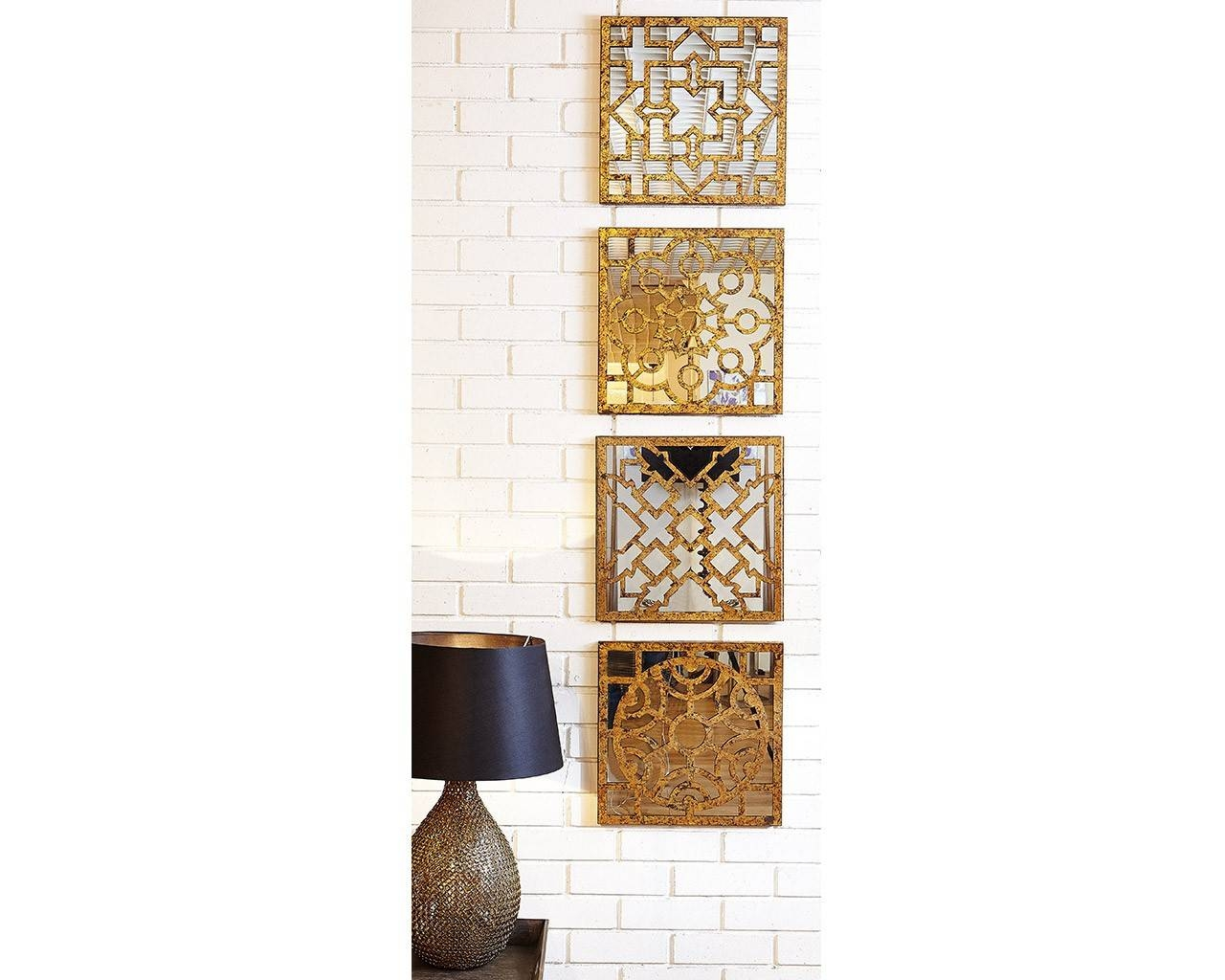 Antique Accessories – Fretwork Mirrored Wall Art Set With Regard To Most Up To Date Fretwork Wall Art (View 1 of 25)