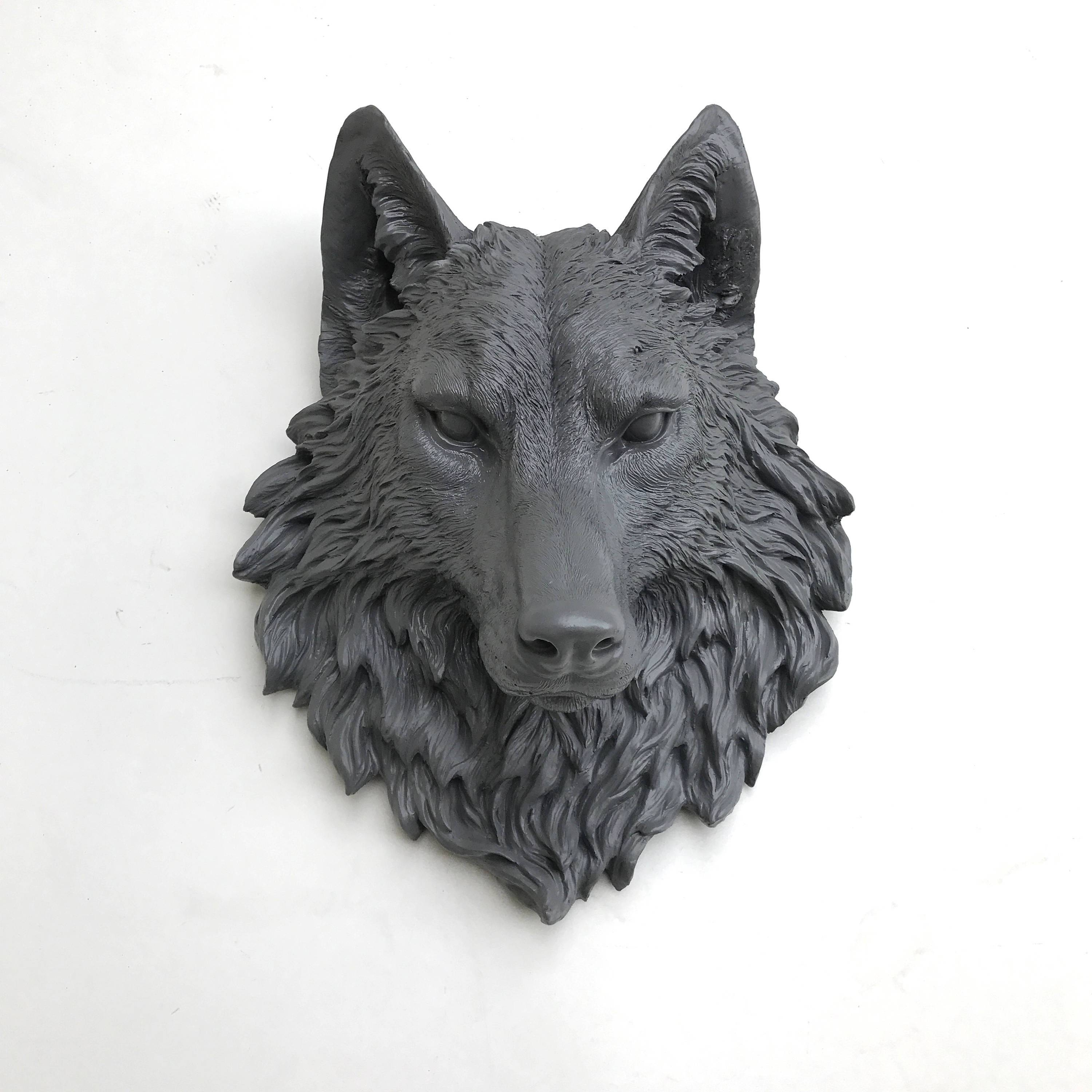 Any Color Fake Wolf Head Wall Mount // Faux Taxidermy // 3D Inside Latest Wolf 3D Wall Art (View 5 of 20)