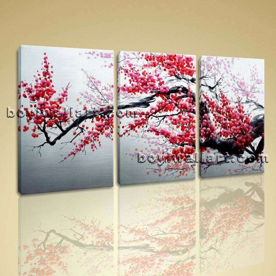 Appealing Plum Flower Wall Art Plum Wall Art Good Plum Metal Wall Pertaining To Newest Plum Coloured Wall Art (View 2 of 20)