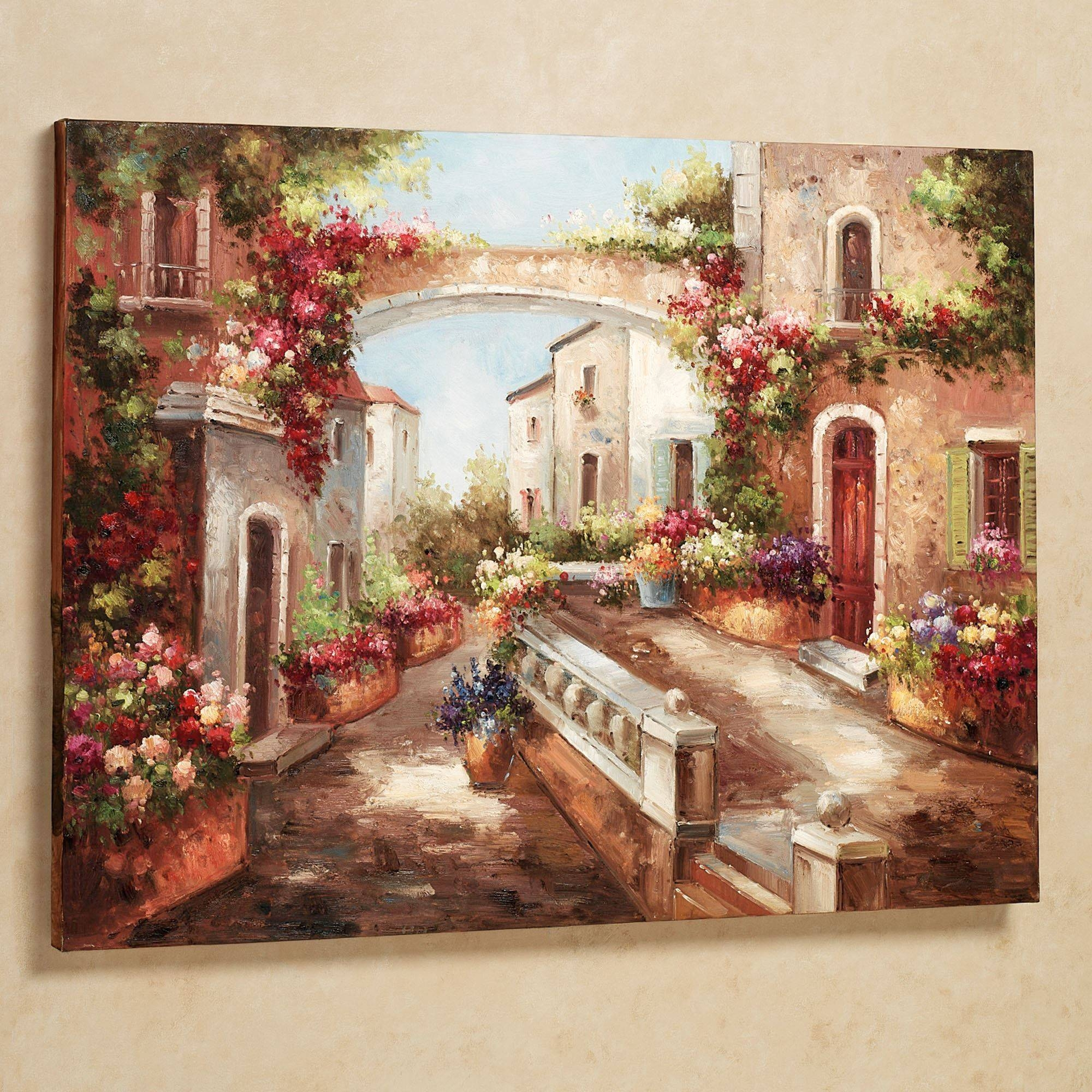 Appealing Tuscan Italian Canvas Wall Art Early Spring Canvas Wall Inside 2018 Tuscany Wall Art (View 3 of 20)