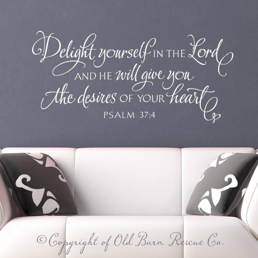Appealing Wall Decor Christian Wall Decal Wall Bible Verse Vinyl Regarding 2017 Large Christian Wall Art (View 21 of 25)