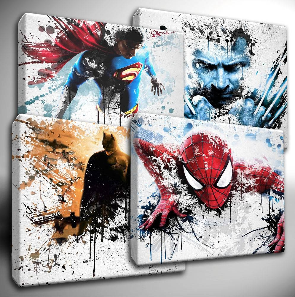 Appealing Wall Decor Marvel Super Heroes Cartoon Marvel 3D Wall In Most Recent Marvel 3D Wall Art (View 6 of 20)