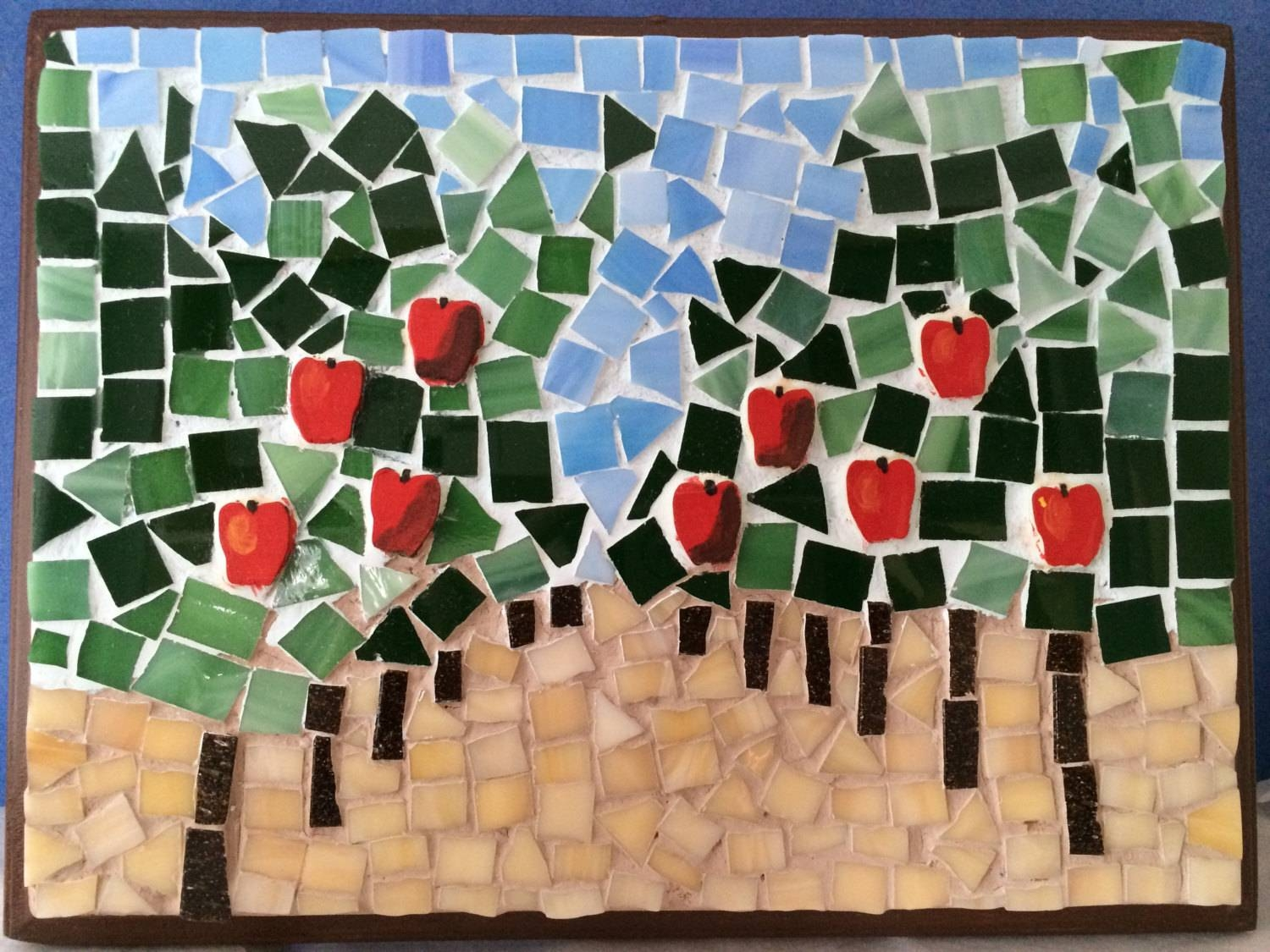 Apple Orchard Diy Mosaic Stress Relieving Unique Gift Wall Within Best And Newest Mosaic Wall Art Kits (View 5 of 20)