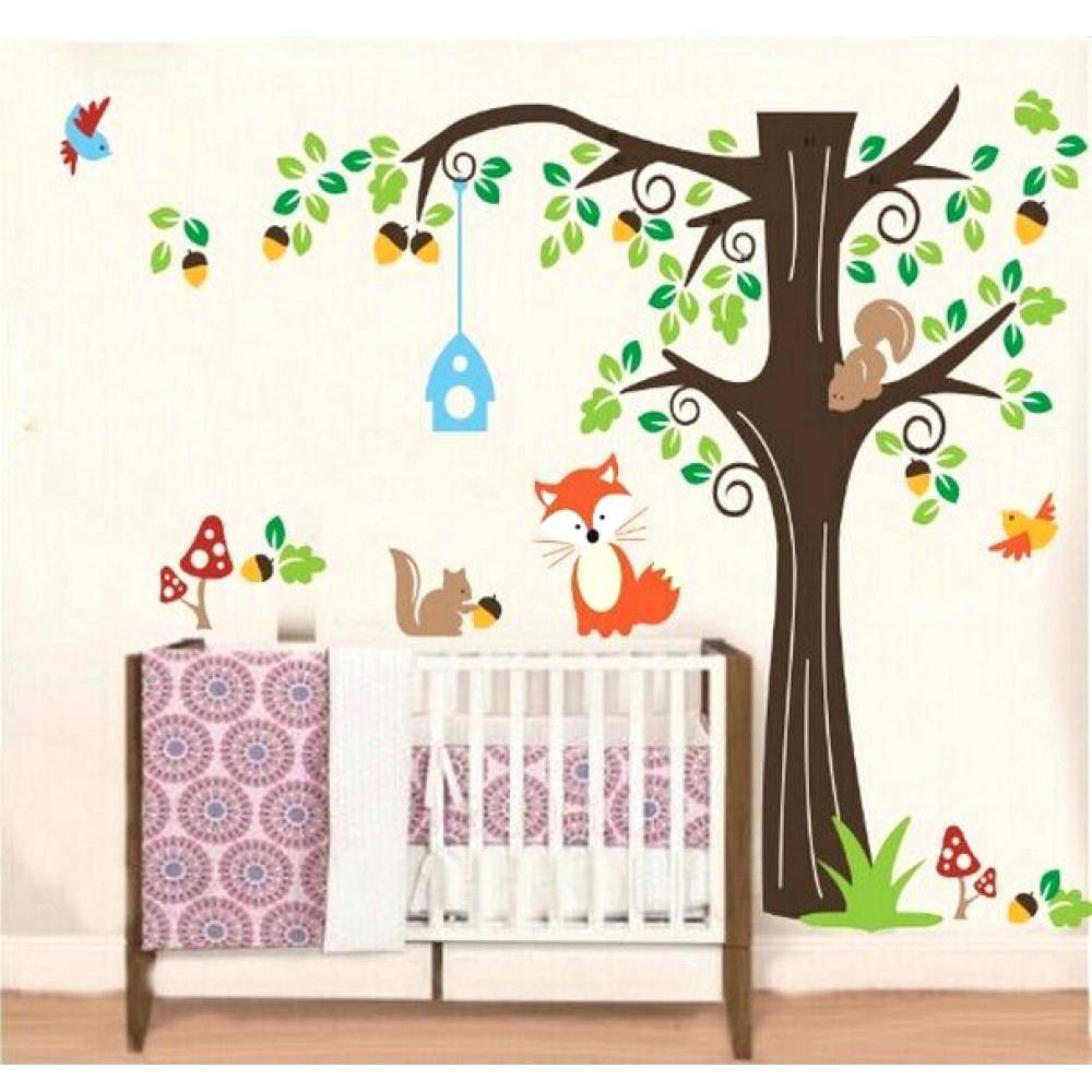 Apple Tree Wall Decal Wall Decals Wall Art Stickers Room Tree Wall With Regard To Most Popular Mushroom Wall Art (View 16 of 20)