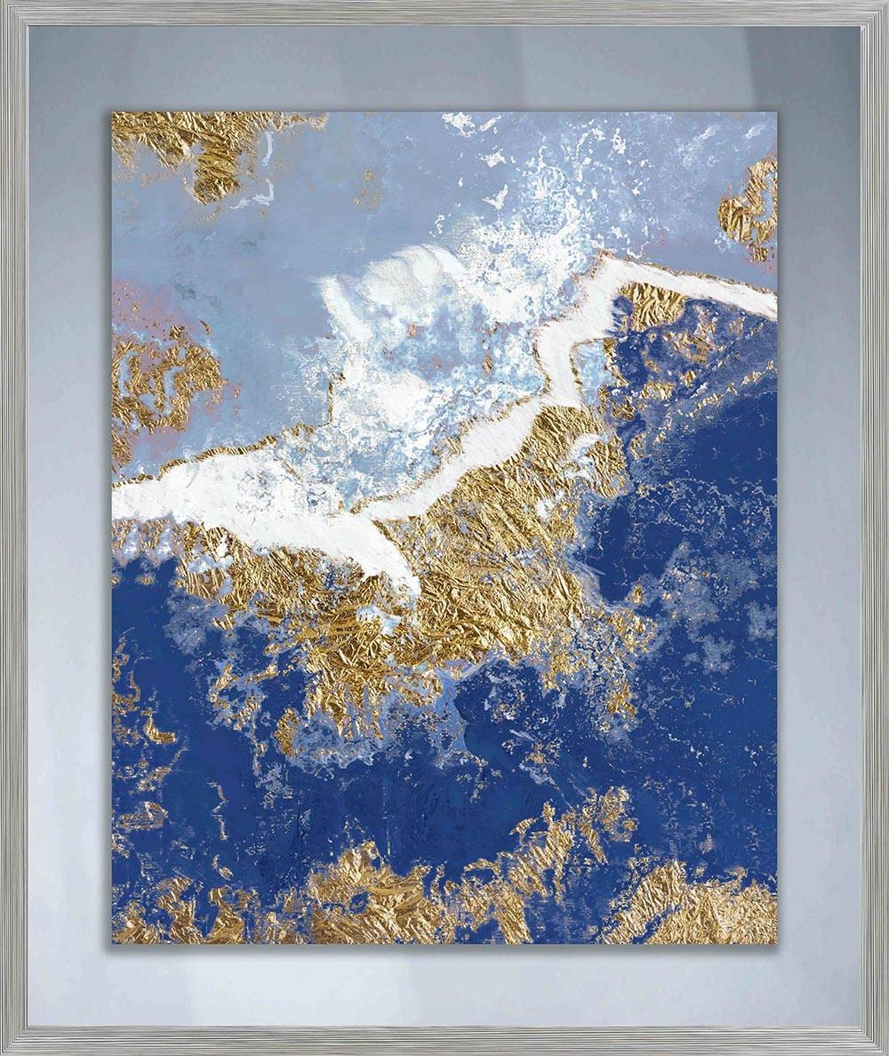 Approaching Waves Ii Glass Wall Art Framed – Ptmimages With Most Recent Dark Blue Wall Art (View 4 of 20)