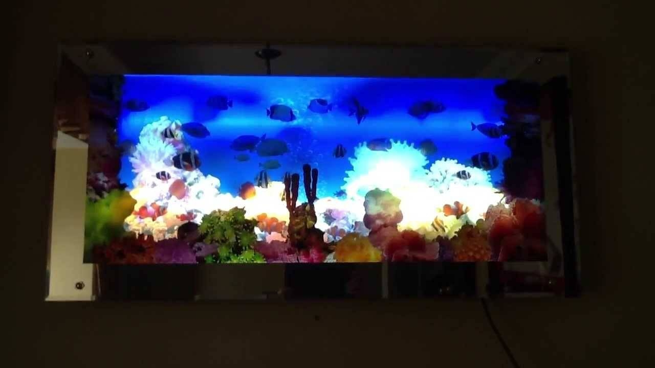Aquarium Moving Wall Art – Youtube In Most Current Electronic Wall Art (View 4 of 25)