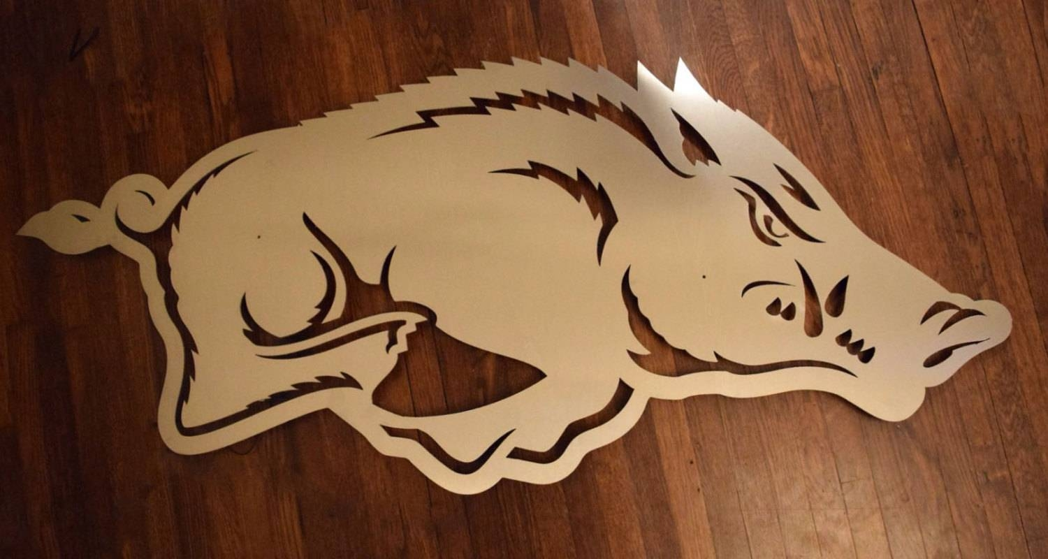 Arkansas Razorback Logo Floating Metal Wall Art With Regard To Recent Razorback Wall Art (View 5 of 25)