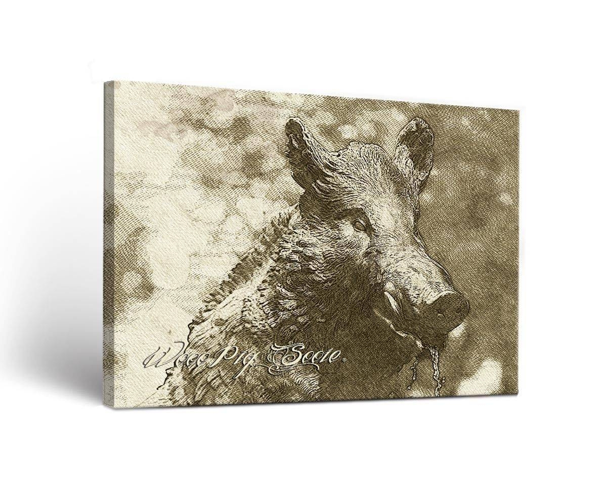 Arkansas Razorbacks Canvas Wall Art Sketch Design 18X24 | Ebay Throughout Newest Razorback Wall Art (View 8 of 25)