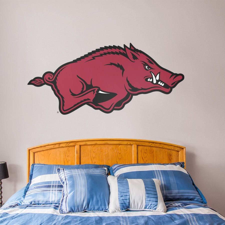 Arkansas Razorbacks Logo Wall Decal | Shop Fathead® For Arkansas Within Recent Razorback Wall Art (View 9 of 25)
