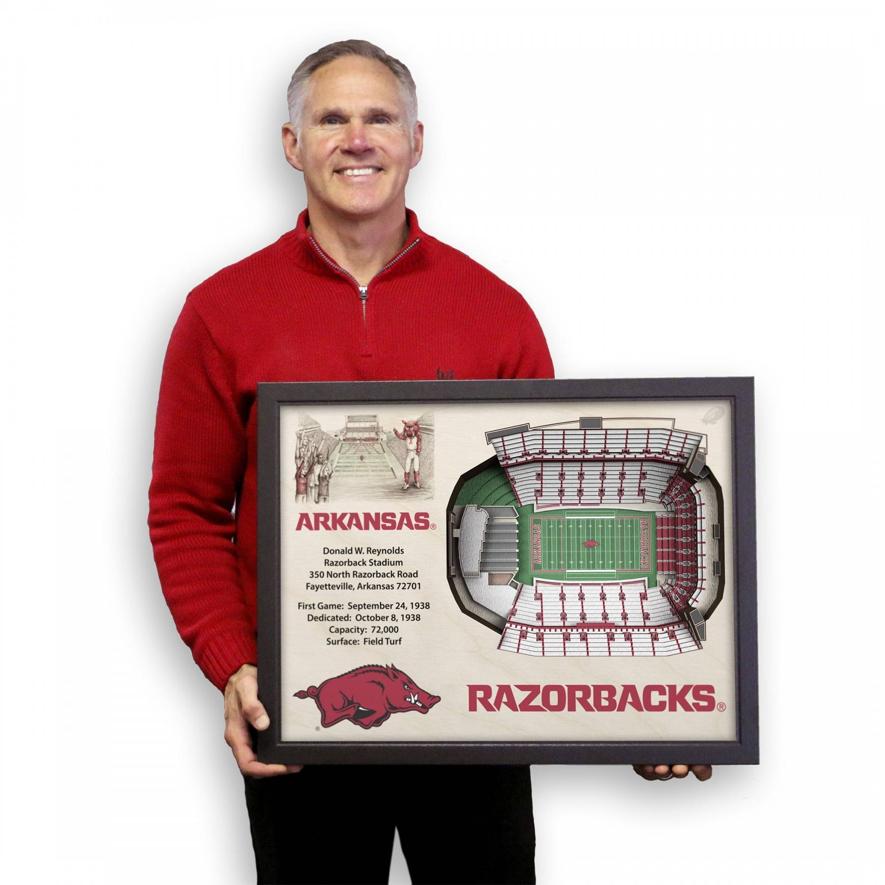 Arkansas Razorbacks Stadiumview Wall Art – Donald W (View 11 of 25)